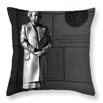 Eleanor Roosevelt Sculpture  Throw Pillow