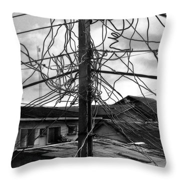 Up Nepa Electricity Pole Throw Pillow