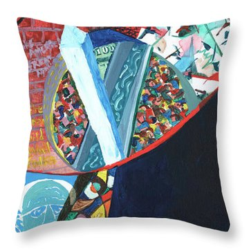 Election Of Outsiders 2016 Throw Pillow