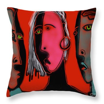 Election Reaction Throw Pillow