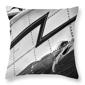 Electra In Chrome Throw Pillow