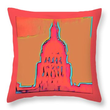 Electric Austin Throw Pillow