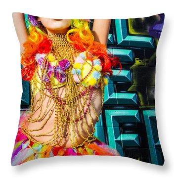 Electric Ballerina Throw Pillow