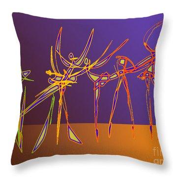 Electric Ballet Throw Pillow