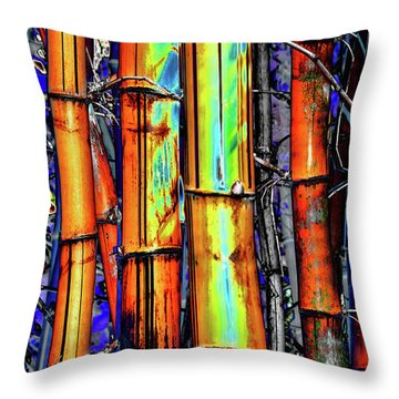 Electric Bamboo 3 Throw Pillow