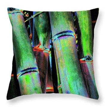 Electric Bamboo 4 Throw Pillow