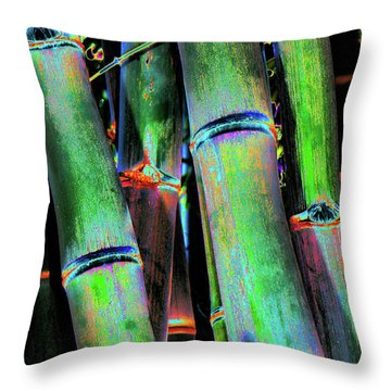 Electric Bamboo 4 Throw Pillow