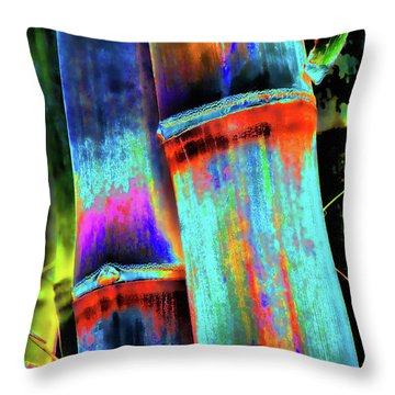 Electric Bamboo 5 Throw Pillow