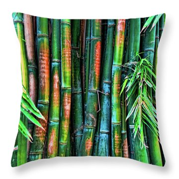 Electric Bamboo 6 Throw Pillow