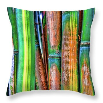 Electric Bamboo 7 Throw Pillow