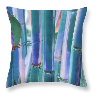 Electric Bamboo 8 Throw Pillow