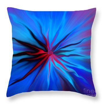 Electric Blue 2 Throw Pillow