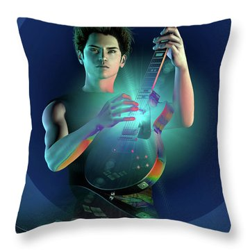 Electric Blue Throw Pillow by Shadowlea Is