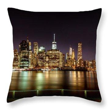 Electric City Throw Pillow