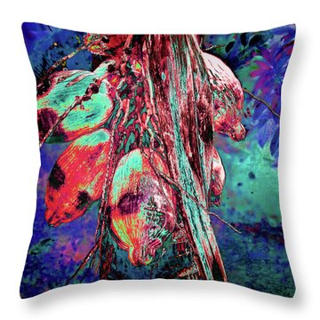 Electric Coconut 1 Throw Pillow