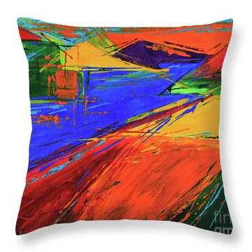 Electric Color Throw Pillow