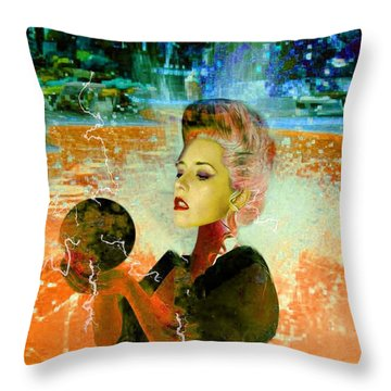 Electric Cyborg  Throw Pillow by Matthew Lacey
