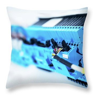 Electric Device And Engeneering Wiring. Railway Industry Throw Pillow
