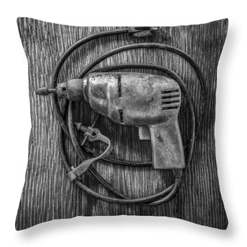 Electric Drill Motor Throw Pillow