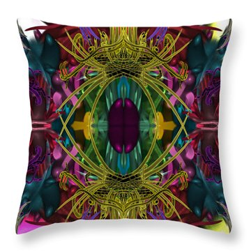 Electric Eye Throw Pillow