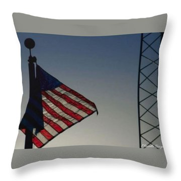 Electric Flag Throw Pillow
