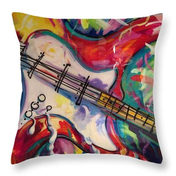 Electric Fusion  Throw Pillow by Heather Roddy