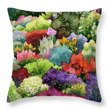Electric Garden Throw Pillow