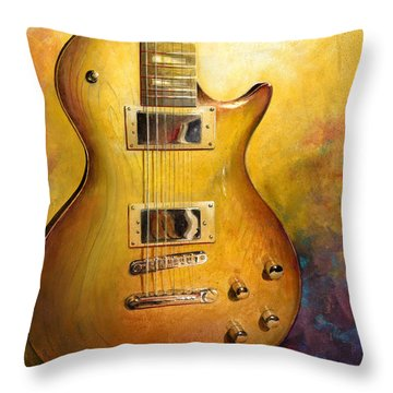 Electric Gold Throw Pillow by Andrew King
