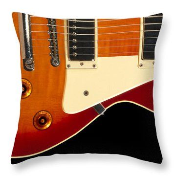 Electric Guitar 4 Throw Pillow by Mike McGlothlen