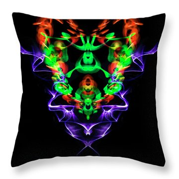 Electric Heart Throw Pillow