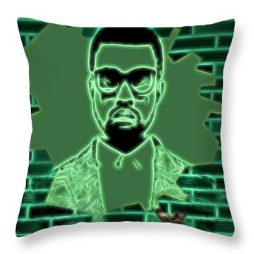 Electric Kanye West Graphic Throw Pillow
