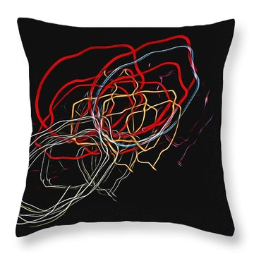 Electric Light Throw Pillow by Steven Richardson