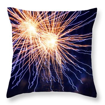 Electric Lights Throw Pillow