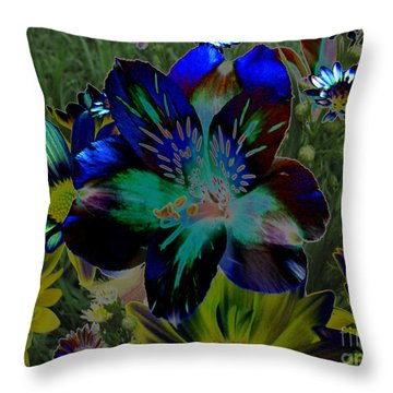 Throw Pillow featuring the photograph Electric Lily by Greg Patzer