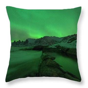 Throw Pillow featuring the photograph Electric Night by Alex Lapidus