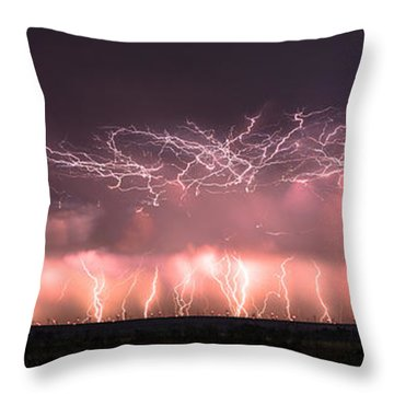 Electric Panoramic Throw Pillow