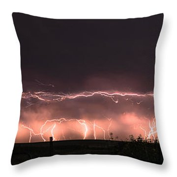 Electric Panoramic IIi Throw Pillow