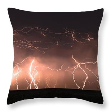 Electric Panoramic Iv Throw Pillow
