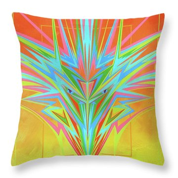 Throw Pillow featuring the painting Electric Personality  by Alan Johnson