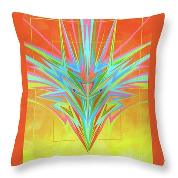 Electric Personality  Throw Pillow