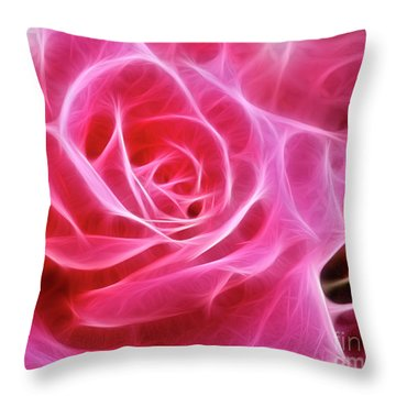 Electric Pink Throw Pillow