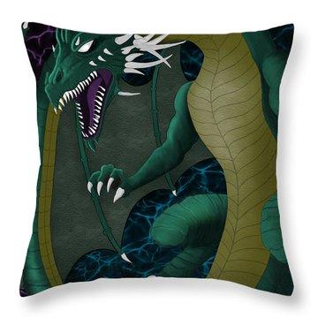 Electric Portal Dragon Throw Pillow