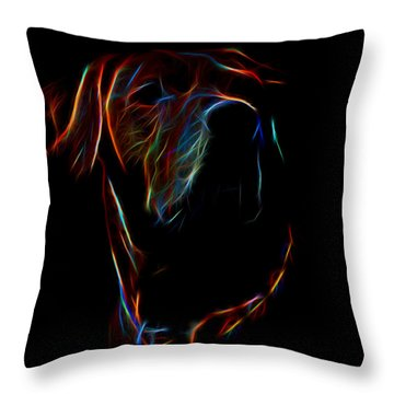 Electric Ridgeback Throw Pillow