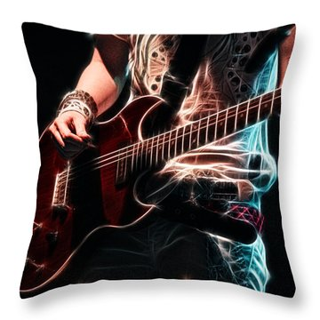 Electric Rock Throw Pillow by Cameron Wood