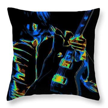 Electric Scholz Throw Pillow