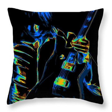 Throw Pillow featuring the photograph Electric Scholz by Ben Upham III