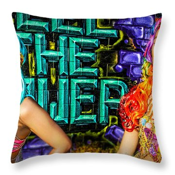 Electric Sirens Throw Pillow
