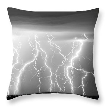Electric Skies In Black And White Throw Pillow by James BO  Insogna