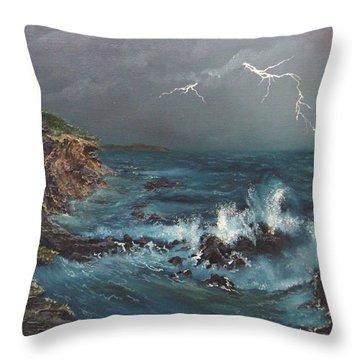 Electric Sky Throw Pillow