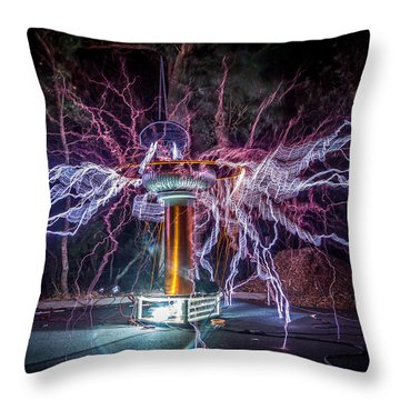 Electric Spider Throw Pillow